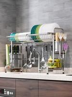 stainless steel kitchen storage shelf bathroom organizer prateleira porta tempero estante cuisine rangement sponge holder