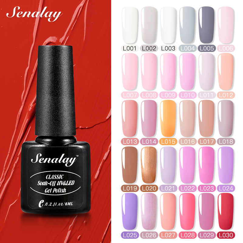 Senalay Gel Nagellak Nodig Base Top Coat Semi Permanente Uv Led Lamp Gel Vernissen Voor Nail Art Manicure Set nagel Gel Lak