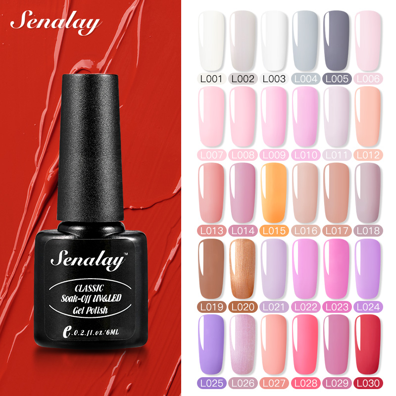 Senalay Gel Nail Polish Need Base Top Coat Semi Permanent UV LED Lamp Gel Varnishes For Nail Art Manicure Set Nail Gel Lacquer