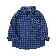 Plaid Shirts Tops Spring Long-Sleeve England-Style Baby-Boys Kids Cotton Fashion Autumn