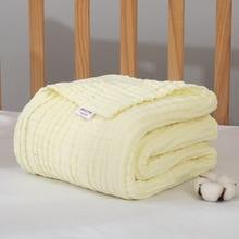 Муслиновая пеленка 6 Слои муслин Одеяло одеяло для детской коляски пеленать обертывание детское одеяло Размеры 110*110 см