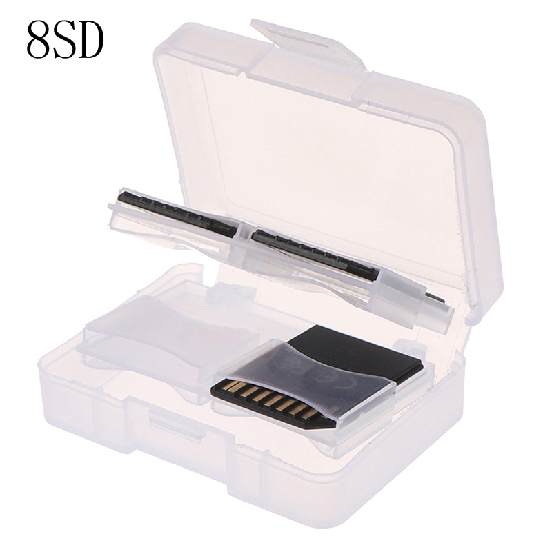 1pc Plastic CF/ SD TF Card Storage Box Protector Holder Hard Case Potable CF Carrying Memory Card Case Holder 8SD