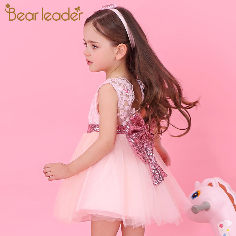 ALI shop ...  ... 32848312720 ... 2 ... Bear Leader Girls Dresses 2020 New Brand Princess Girls Clothes Bowknot Sleeveless Party Dress Kids Dress for Girls 1-6 Years ...