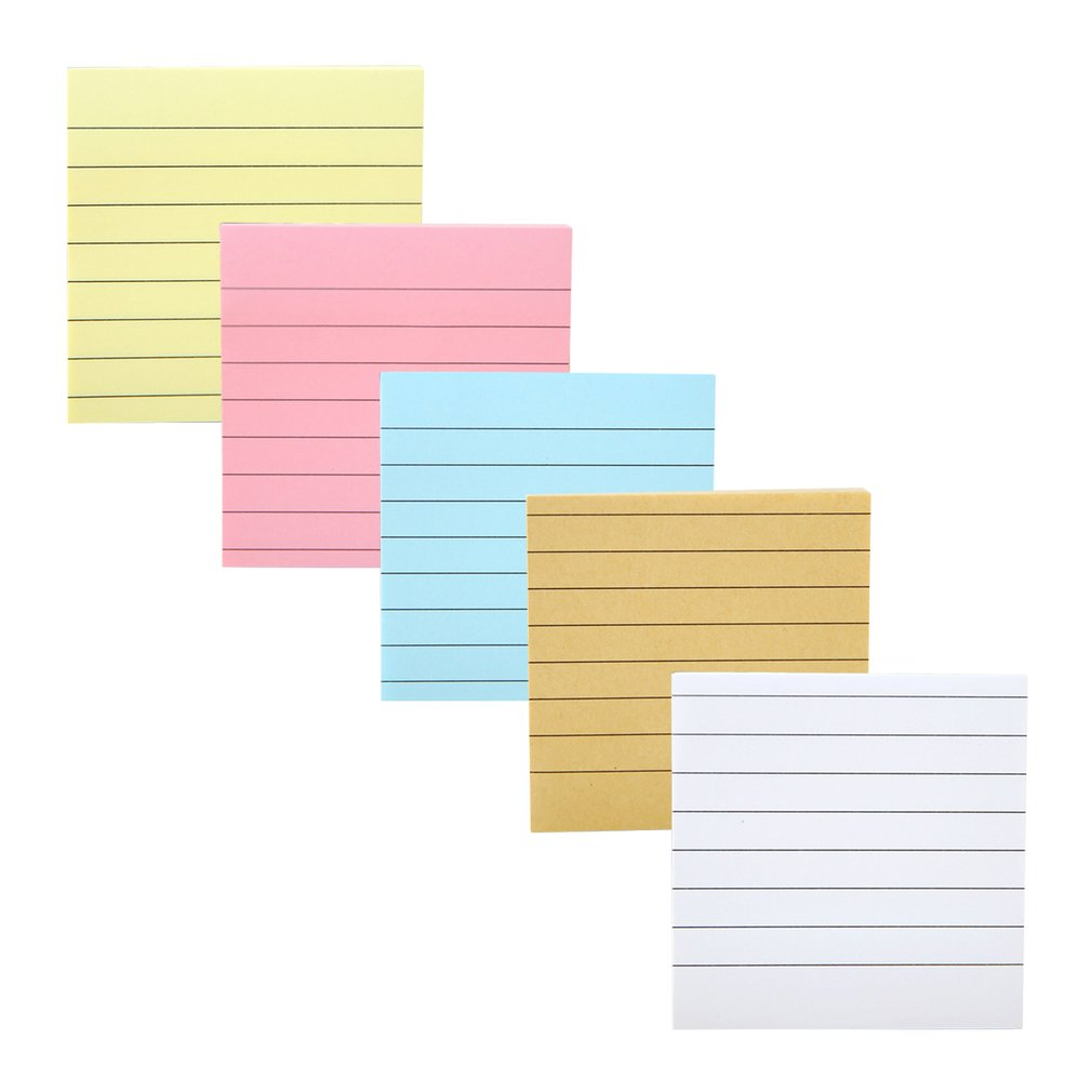 80 Sheets Solid Color Memo Pad Post It Stickers Self-adhesive Sticky Message Notice Notepad School Office Stationery Supplies