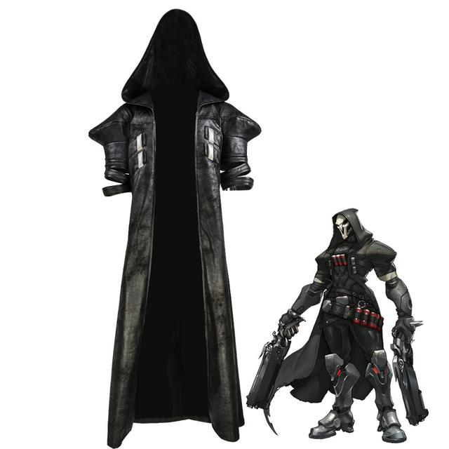 COSTHEME Overwatch Reaper Robe, Officially Licensed, Halloween Cosplay Costume Coat Gabriel Reyes Game Anime Apparel with Spine 1
