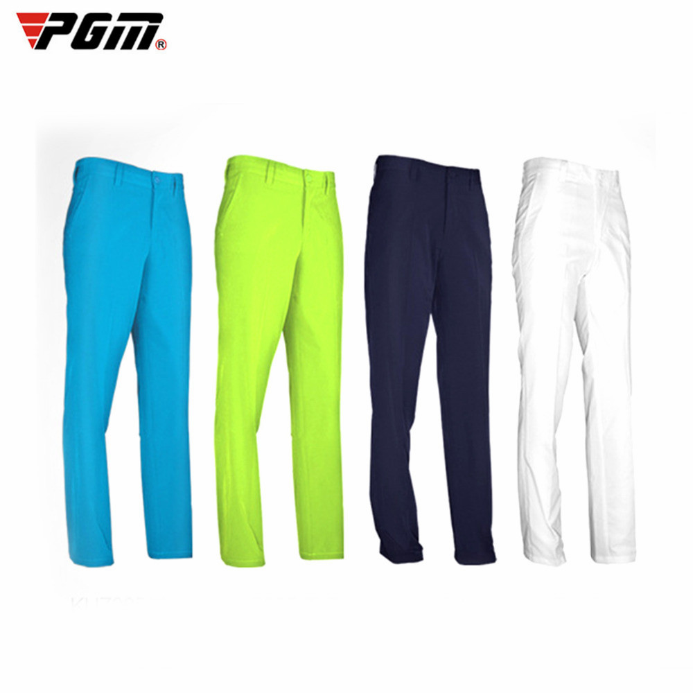 PGM Men's Golf Pant Quick Dry Waterproof Sports Golf Trousers Quick Dry Breathable Pants 6 Colors XXXL Elastic Durable Thin Pant