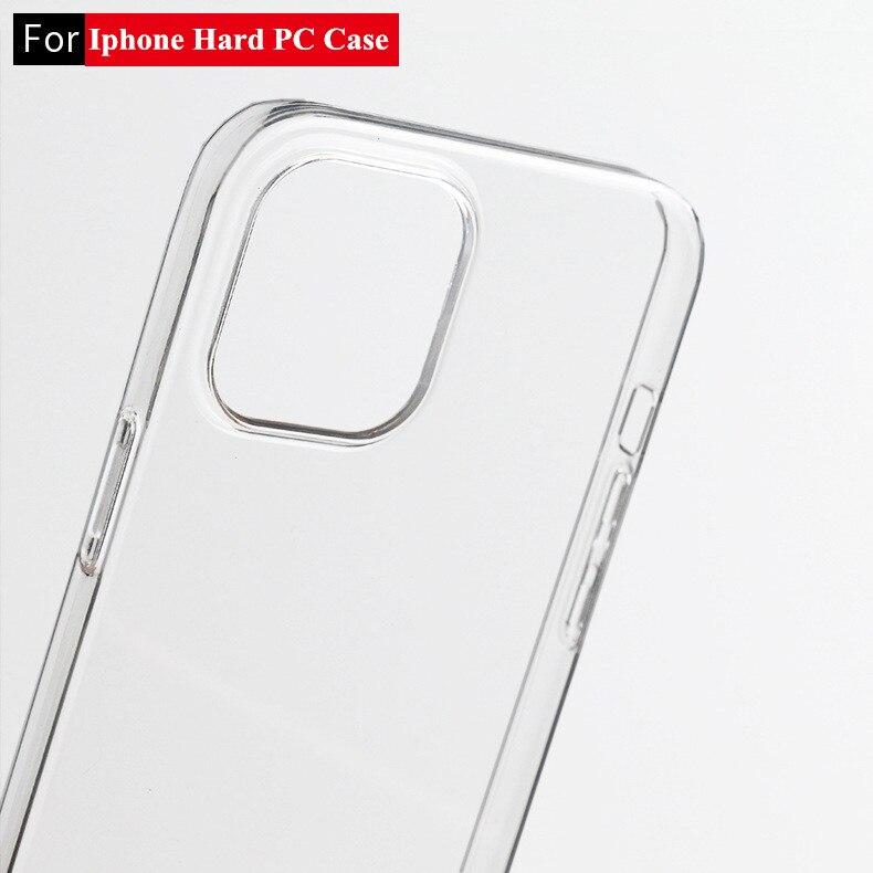 Жесткий пластиковый Чехол из поликарбоната для Apple iPhone 12 Mini 10 Pro Max XR XS Max SE 2020X8 7 6 S 6 S Plus, противоударный прозрачный чехол