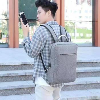 Męska plecak spersonalizowana moda podróży biznesowych podróży Laptop interfejs ładowania USB plecak proste na zewnątrz torby tanie i dobre opinie CN (pochodzenie) Unisex Miękka osłona Otwór na wyjście Kieszonka na telefo miękki uchwyt Plecaki zipper Others One color