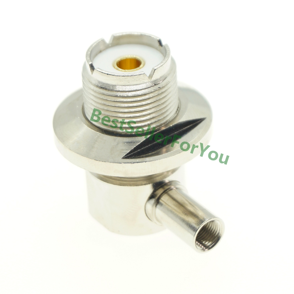 UHF Female SO239 SO-239 Jack Right Angle Solder Connector 90 Degree LMR195 RG58 RG400 RG142 Cable