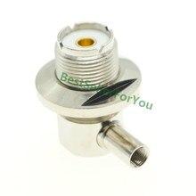 SO239 SO-239 Jack UHF Fêmea Conector do Ângulo Direito de Solda 90 graus LMR195 RG58 RG400 RG142 Cabo