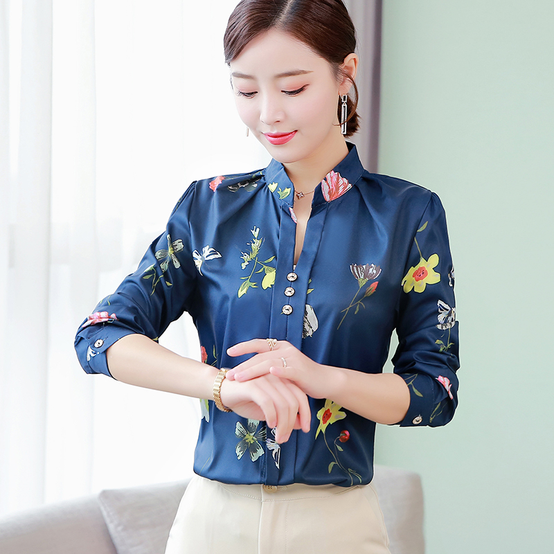 Korean Fashion Cotton Women Blouses Floral Turn-down Collar Pink Women Shirts Plus Size XXXL/5XL White Womens Tops And Blouses