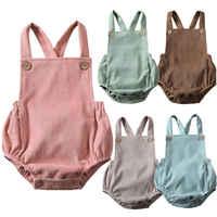 Newborn Infant Baby Boy Girls rompers Velvet playsuit Sleeveless Vest Jumpsuit Winter Autumn Clothes Outfits