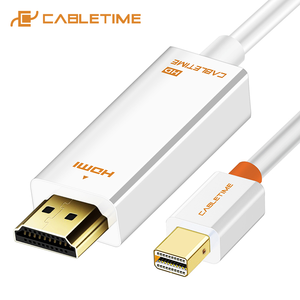 Image 1 - CABLETIME New Arrival 2020 Thunderbolt Mini DisplayPort dp DP to HDMI Adapter HDMI DP Cable for 1080P TV Computer MacBook C055