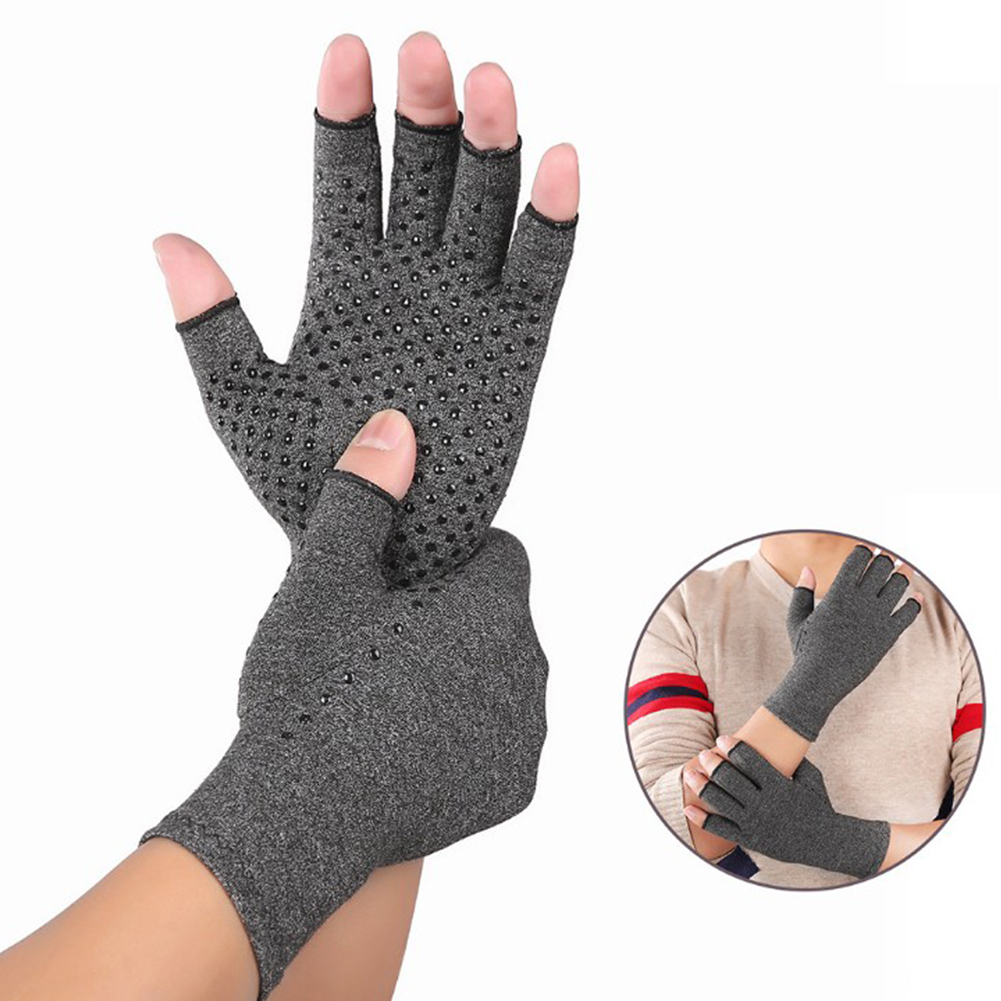 Women Men Hands Arthritis Gloves Cotton Therapy Compression Gloves Circulation Grip Hand Arthritis Joint Pain Relief S/M/L