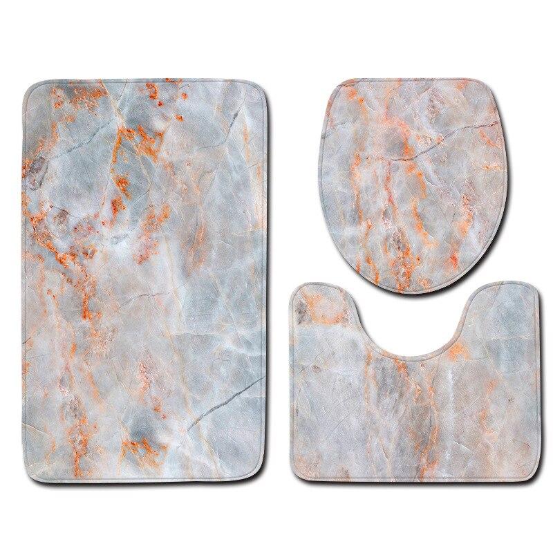 derrapante tapete de banho padrão mármore e