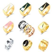 N1ke 2021 tick logotipo oco de aço inoxidável gancho anéis net vermelho novo coreano jóias personalidade criativa estilo rua anel hotboom