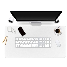 Desktop Protection Pad 90X 45 cm Pu Leather Desk Pad Ink Absorbent Finishing Bag Comfortable Writing Surface White
