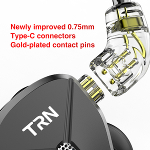 Image 5 - Trn ba5 5ba 10 unidade armadura balanceada em fones de ouvido alta fidelidade monitor metal fone ruído zs10pro zsx v90 ba8 zax
