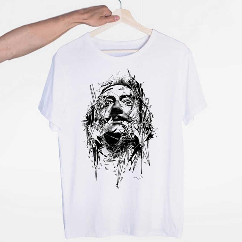 살바도르 달리 공물 티셔츠 오-넥 반팔 여름 캐주얼 패션 남여 남녀 tshirt