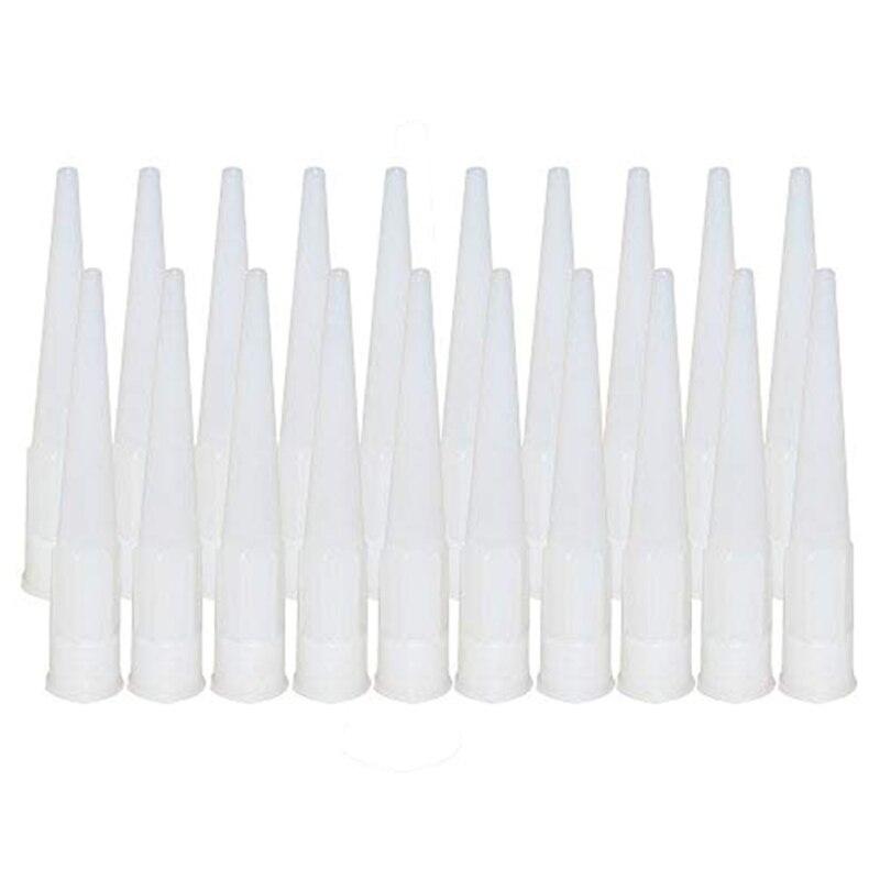 20pcs Hot Plastic Universal Caulking Nozzle  Glass Glue Tip Mouth Home Improvement Construction Tools