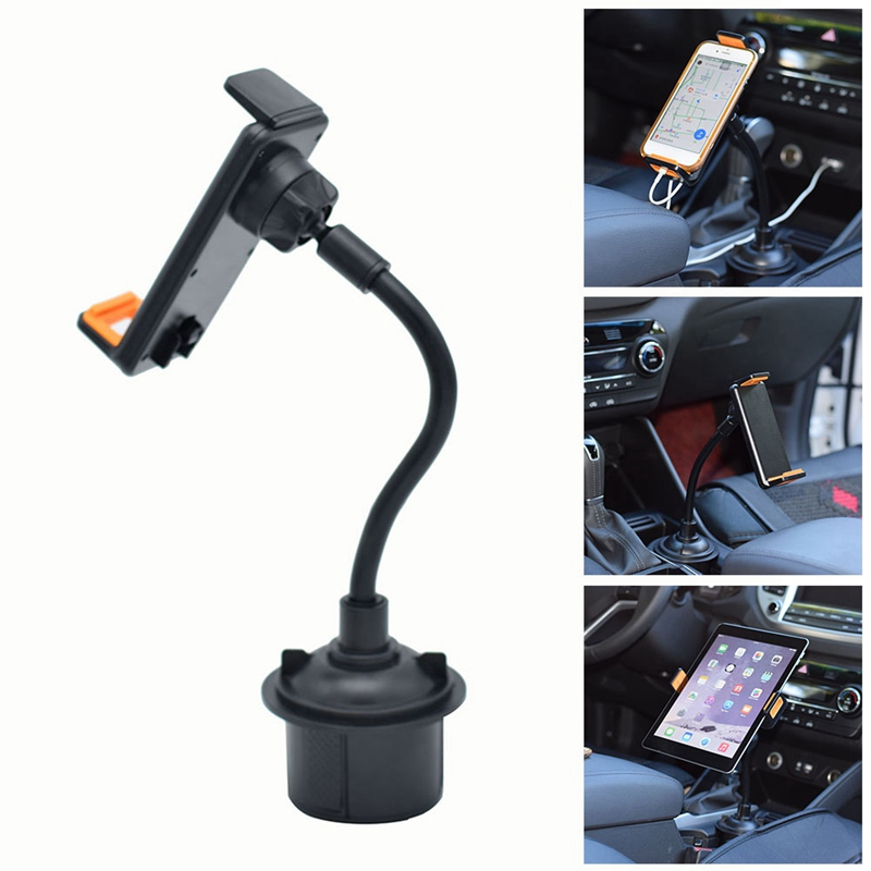 Universal Black 360 Degree Scalable Car Mount Adjustable Cup Holder Stand Cradle For Cell Phone Mobile GPS Cellphone