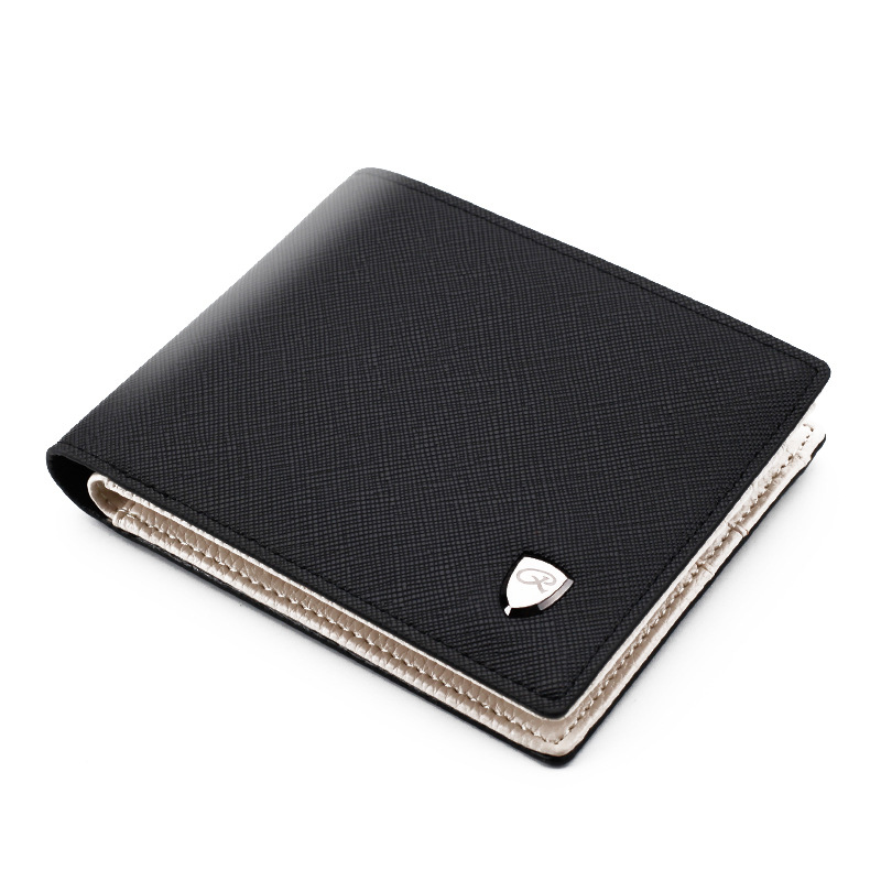 New Men Wallet Fashion Solid Color Cross Pattern Open Multi Card Position Wallet Men Leather Purse Men Carteira Billetera Hombre