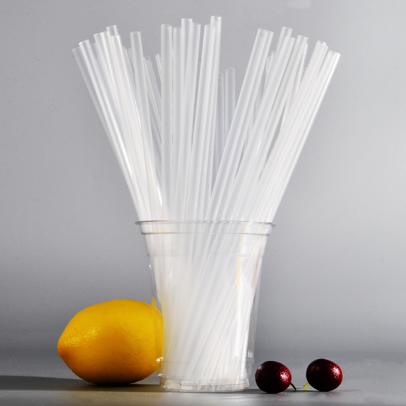 Red Kai Environmentally Friendly PP Plastic Fruit Juice Beverage Straw Disposable Tribute Tea Pearl Milk Tea Straw Single Bottle