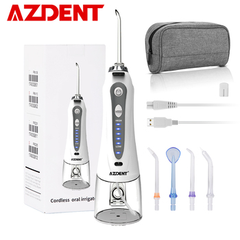 New 1 Set Portable Oral Irrigator with Travel Case Bag USB Charger Water Dental Flosser Irrigation Tooth Pick Floss 240ml 5 Tips