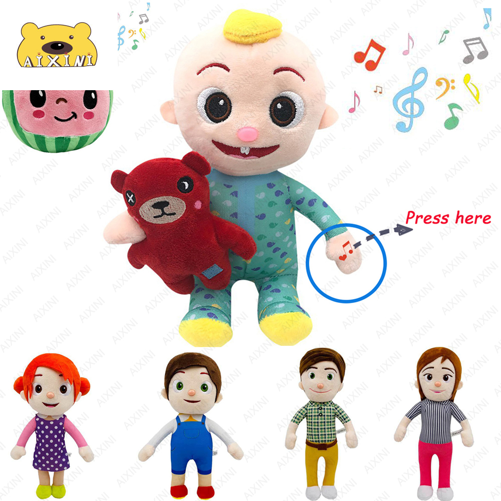 JJ Cocomelon Toys Doll Cocomelon Jj Doll Sing Kids Toys for Boys Cocomelon Bedtime Jj Music Doll Family Kid Gift Anime Plushie 6