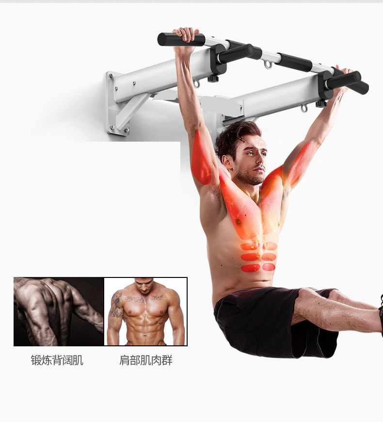 Pull Up Bar AB Slings Chin Up and Fitness Equipment Sit Up Bar Muscle Training Bar Sandbags Hanger Wall mounted