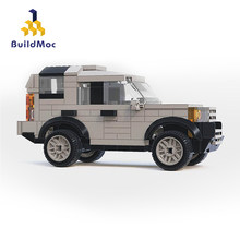 Buildmoc koruyucu Off road aracı arazi araba Rover Fit Techniclele Defender 42110 Model Mini tuğla oyuncaklar çocuk noel