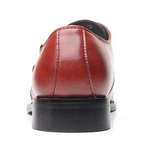Image 4 - を2020男性は靴手作りブリティッシュブローグスタイルパティ革の結婚式の靴メンズフラットレザーオックスフォード