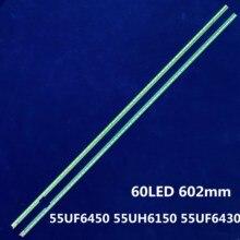 """2 Pcs X Striscia di Retroilluminazione a Led 55 """"V15.5 ART3 Ud R/L per LG 55UF6450 55UH6150 55UF6430 LC550EGE 6916L2318A 6916L2319A 6922L 0159A"""