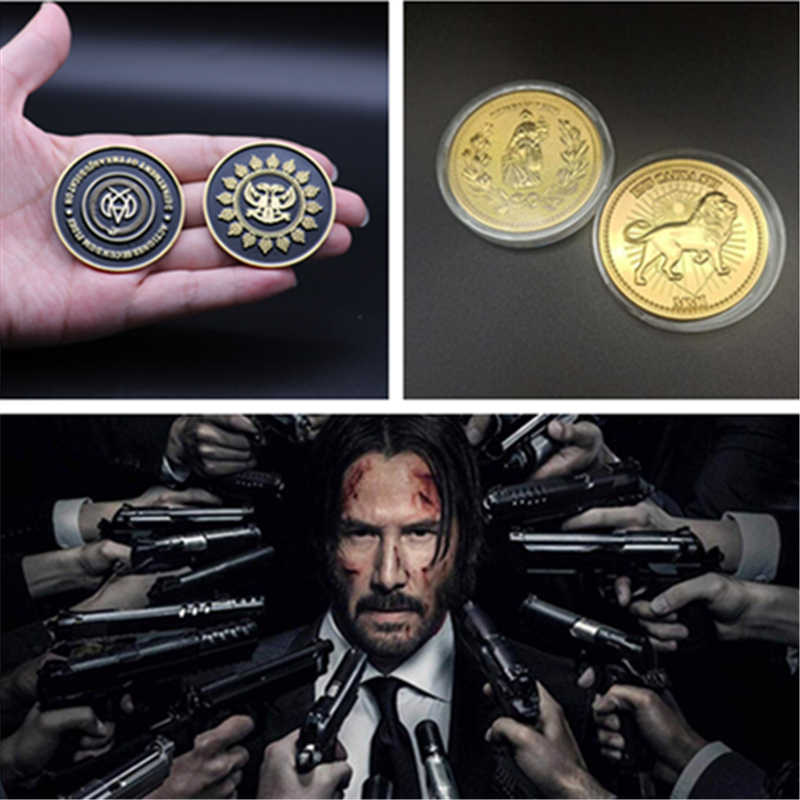 Movie John Lont Verzamelen Coin Continental Hotel Beslissing Gold Coin Replica Cosplay Props Accessoires Badge