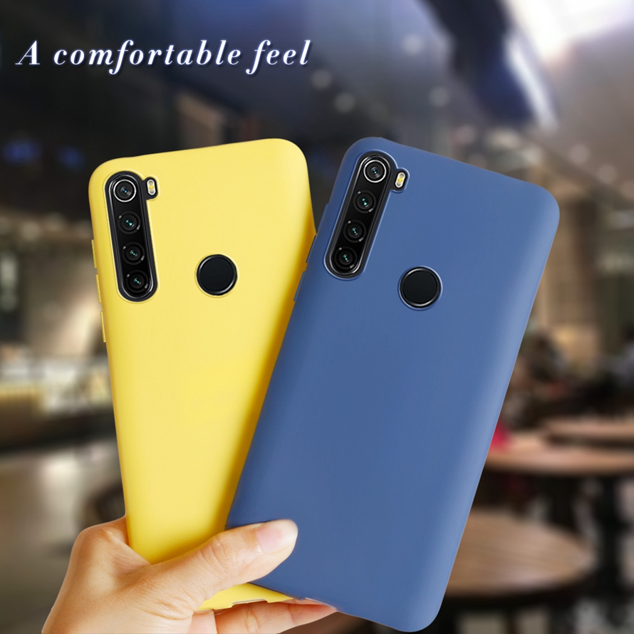 Simple Case For Xiaomi redmi note 8T Silicone transparen Painted Candy TPU Back Cover For Xiaomi Redmi note 8 Pro Global Version