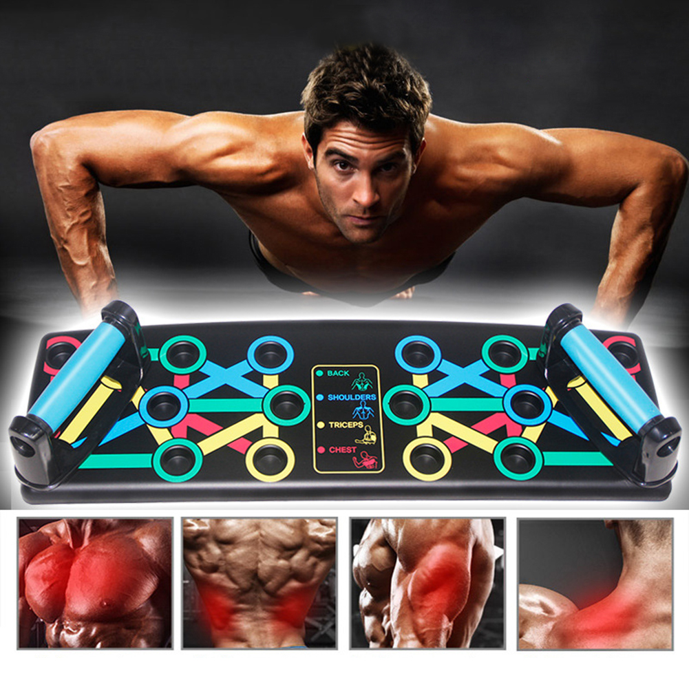 14-in-1 Push-up Stops Fitness Exercise Push Up Board Rack Push Up Stands Body Building For Gym Men Women Exercise