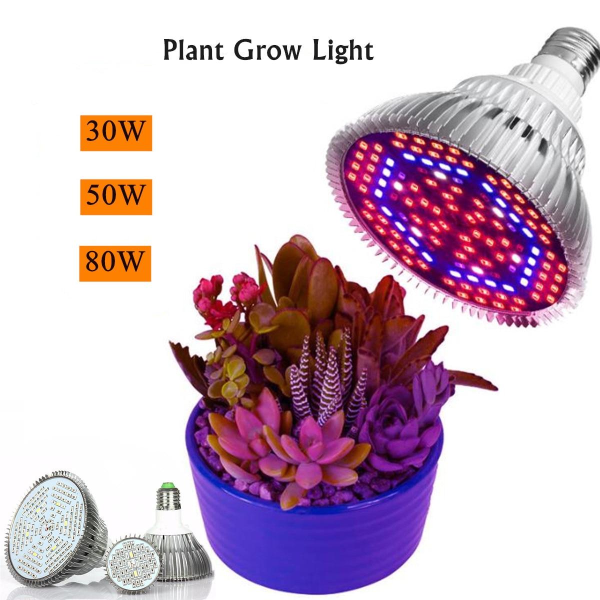 Full Spectrum LED Grow Light 120LEDs Plant Lamp Led Bulb for Plants Aquarium Flowers Seeds Garden Ve