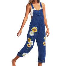 2020 новые джинсы для дам с лямки печатным рисунком и подтяжками