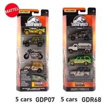Mattel Matchbox 1:64 Jurassic World Movie Alloy Car of The Same Model 5 Sets Model Car Collection Kids Toys FMX40