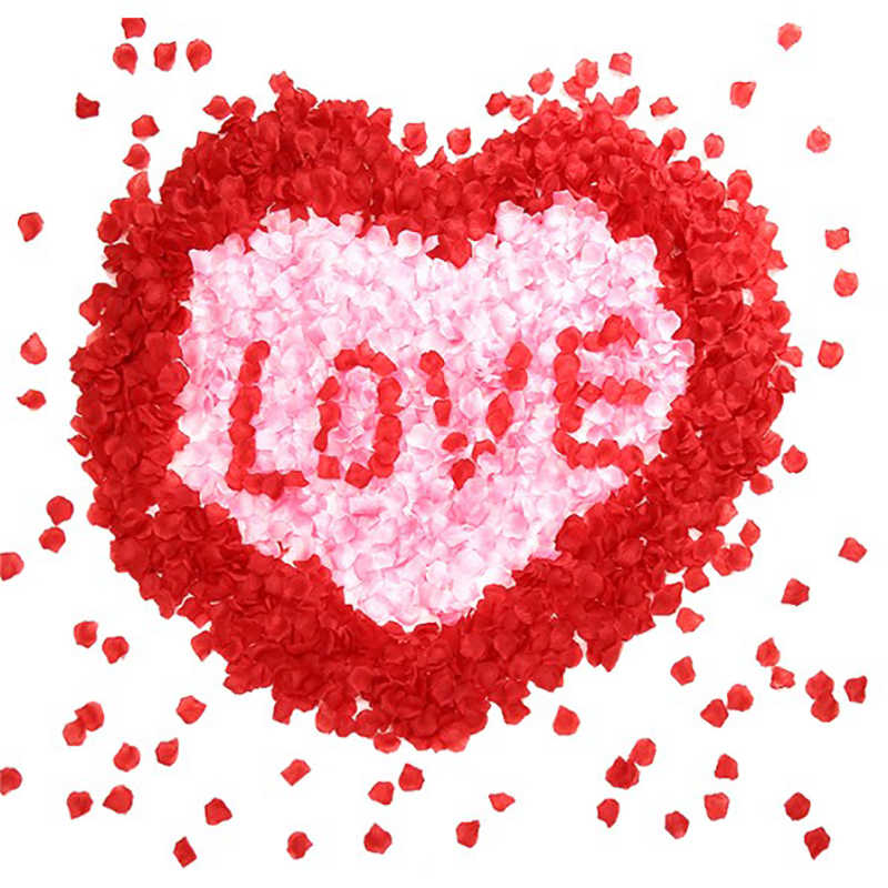 500 Buah/Bungkus Romantis Buatan Kelopak Mawar Pernikahan Bunga Mawar Bunga Romantis Kelopak Mawar Sutra untuk Pernikahan Dekorasi