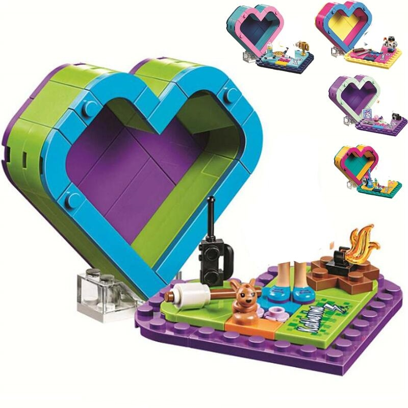 New Friends Emma Olivia Mia Heart  Building Blocks Kit Bricks Classic Girl  Model Toy For Children Gift 41365 41368