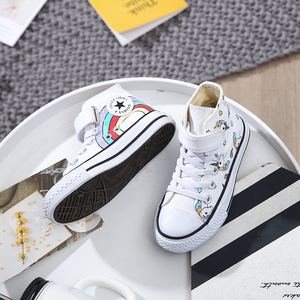 Image 3 - 2020 Girls Unicorn Boots Rainbow Vulcanized Canvas Toddler Boots Big Girls and Boys Sneakers Winter Ankle England Boots  25 38