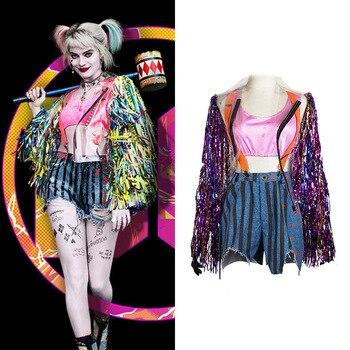 2020 nuevo disfraz femenino de harley quinn para adultos de halloween y camo de fantasía de harley quinn
