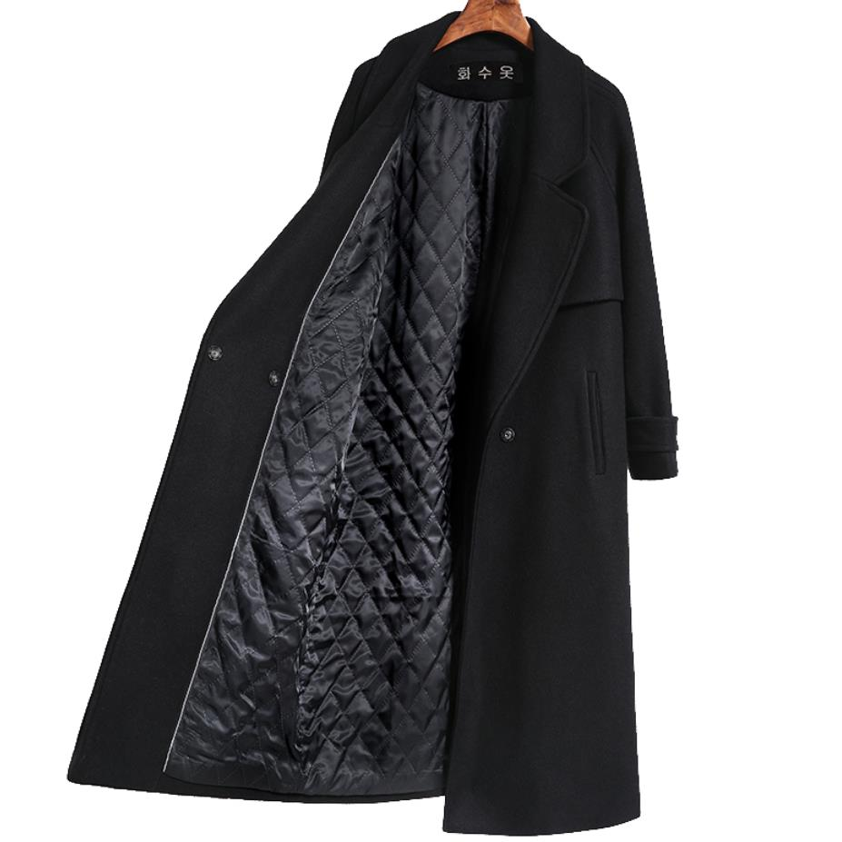 Autumn Winter New Women's Casual Wool Blend Trench Coat Oversize Long Coat With Belt Women Wool Coat Cashmere Outerwear