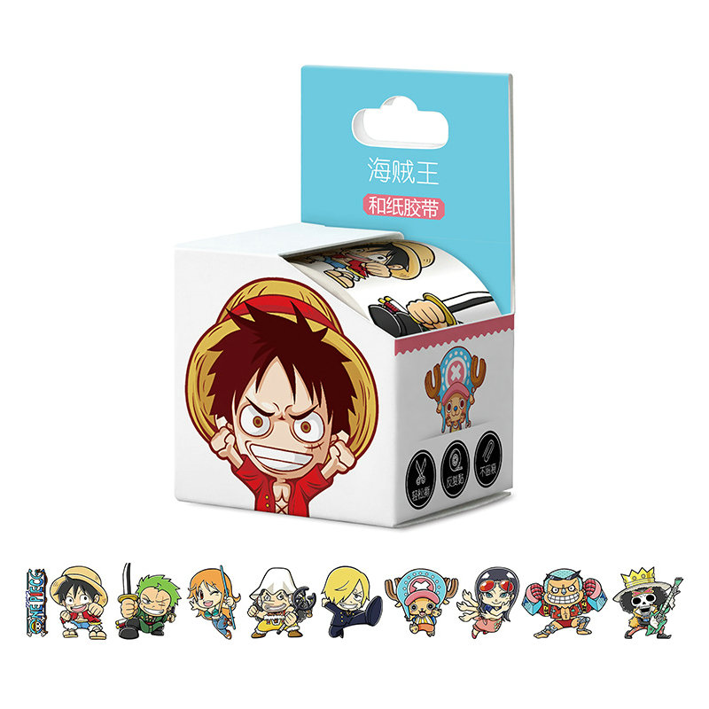 4cm*5m New Arrived One Piece Luffy Anime Washi Tape Adhesive Tape DIY Book Sticker Label Masking Tape
