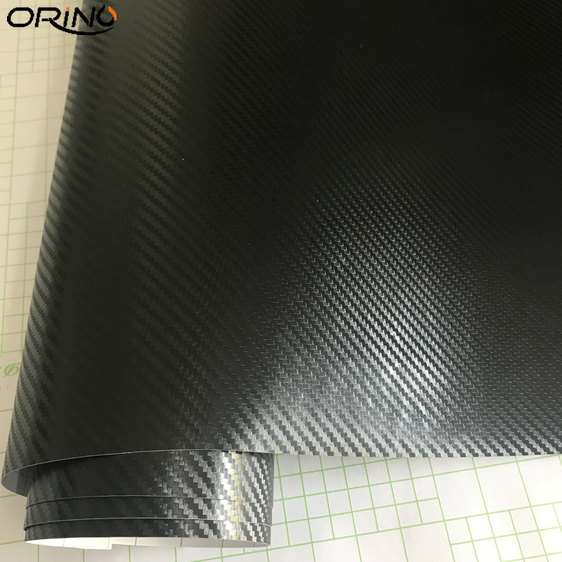 Black 3D Carbon Fiber Vinyl Wrap Sticker-4