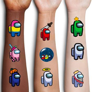 Wśród nas gra tymczasowa naklejka tatuaż wodoodporna fałszywy tatuaż tatuaże ręka stóp tatuaż dla dzieci dzieci chłopiec tanie i dobre opinie YAAAS