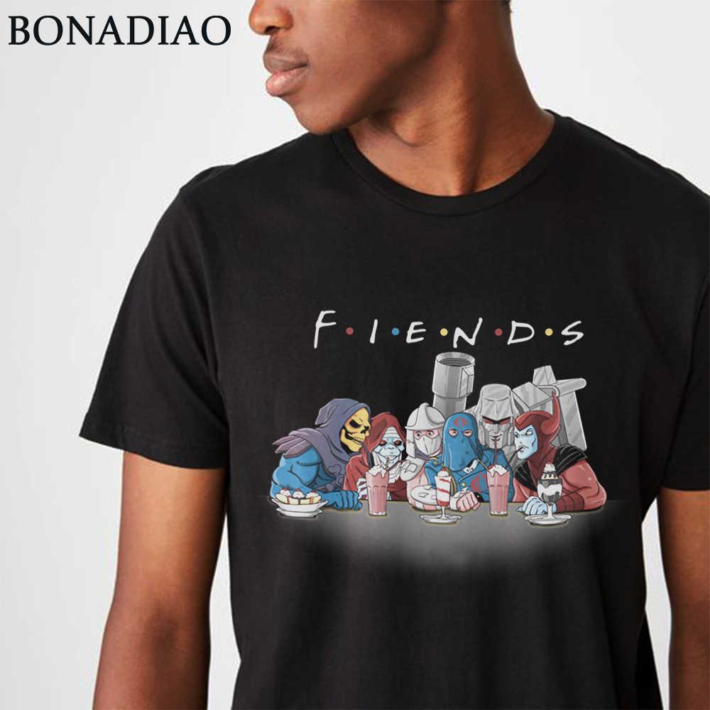 Vintage Cartoon Universe Skeletor Trituratore Megatron T Camicia Casual Camiseta Girocollo Divertente Amici Homme Tee Shirt