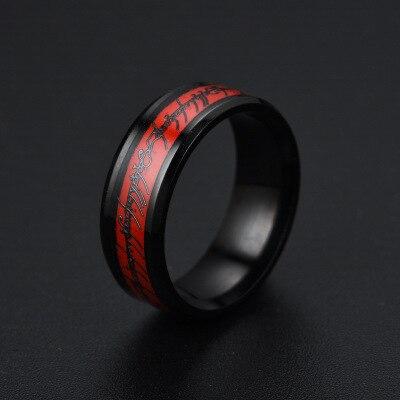 Hobbit Letters Midi Campers Enl Ring van Power Goud de lord Ring Liefhebbers Vrouwen Mannen Modus-sieraden Gratis verzending