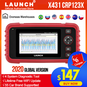 Launch X431 CRP123X Diagnostic Tool Auto Code Reader EOBD OBD2 Scanner Engine Transmission ABS SRS AutoVIN WIFI PK CRP123 VII+